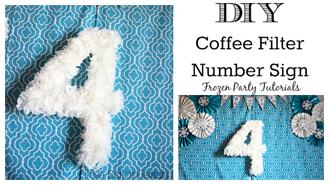 DIY Birthday Party Number Sign Using Coffee Filter - Make your own number sign for your kid's birthday party using your coffee filter!
