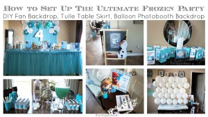 how to set up a Frozen party