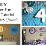 DIY Paper Fan Tutorial (Frozen Party Backdrop)