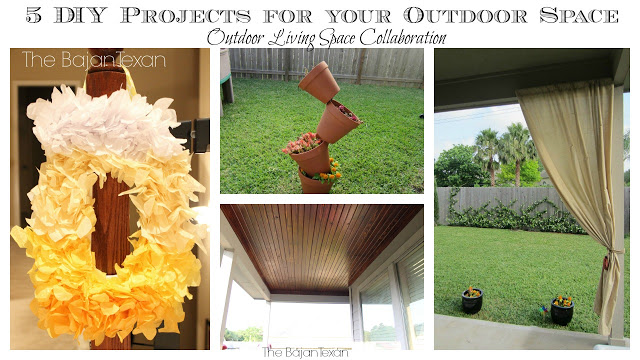 5 Cheap Easy Outdoor Space DIY Ideas: Outdoor Living Space YouTube Collaboration. Check out some great ideas for your outdoor area!