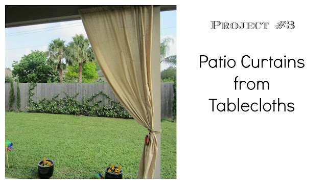 diy patio curtains from tablecloths