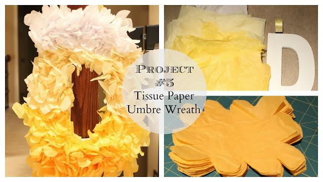 umbre tissue paper wreath