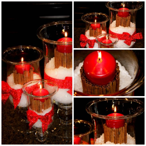 DIY Christmas Cinnamon Candle
