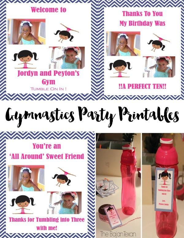 gymnastics party printables