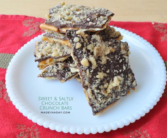 sweet and salty chocolate crunch bars