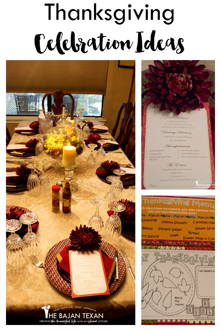 Thanksgiving celebration ideas