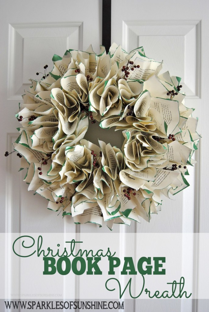 Christmas-Book-Page-Wreath-DIY