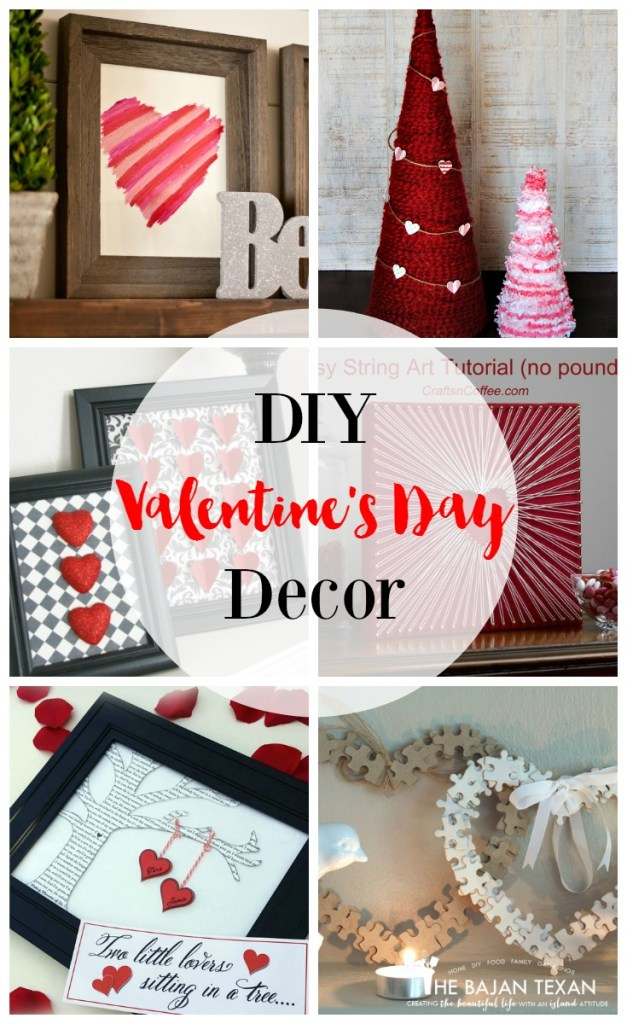 sy Valentine's Day DIY Decor Ideas - Check out this round up of simple, easy-to-make decor ideas for the season of love!