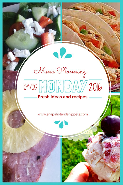 Menu Planning Monday9-5-16