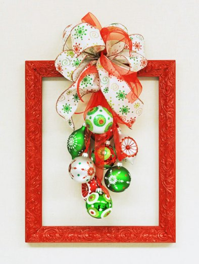 DIY christmas frame