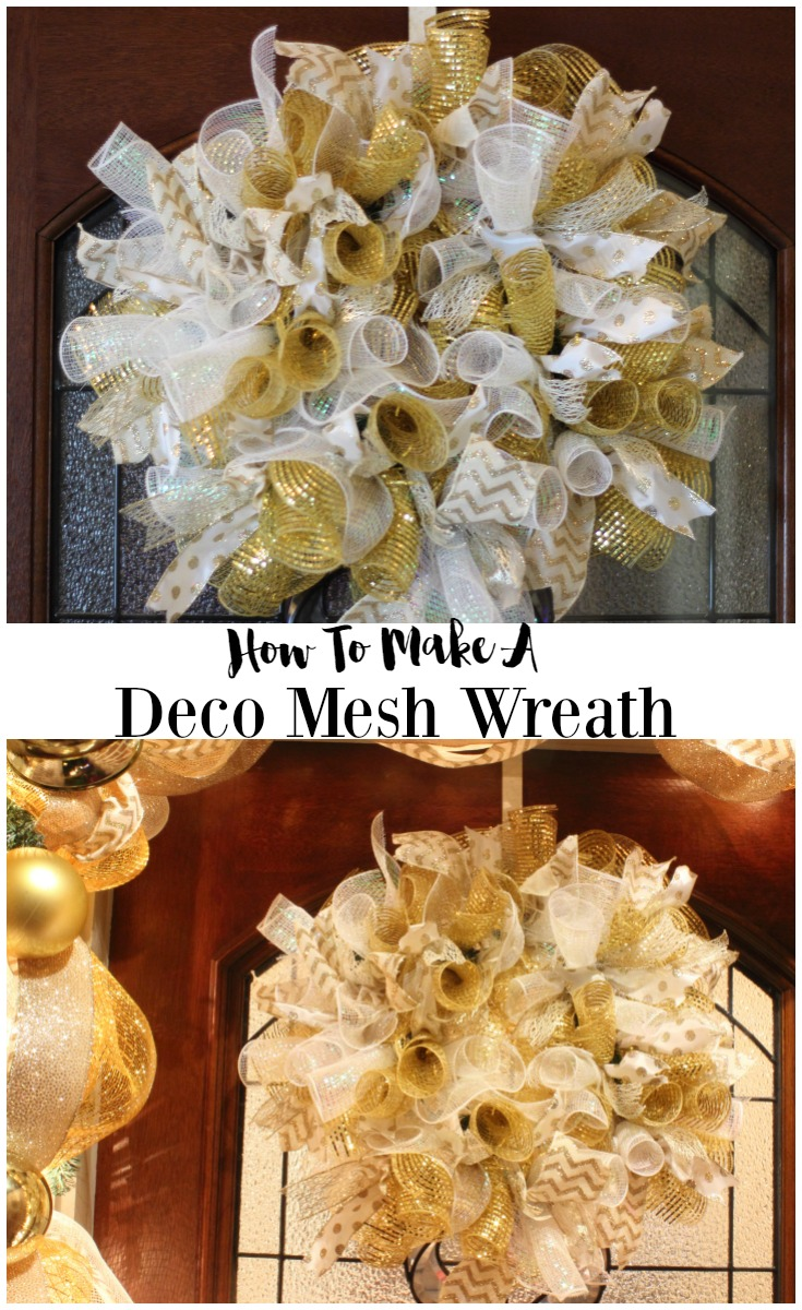 How To Make A Christmas Deco Mesh Wreath The Bajan Texan