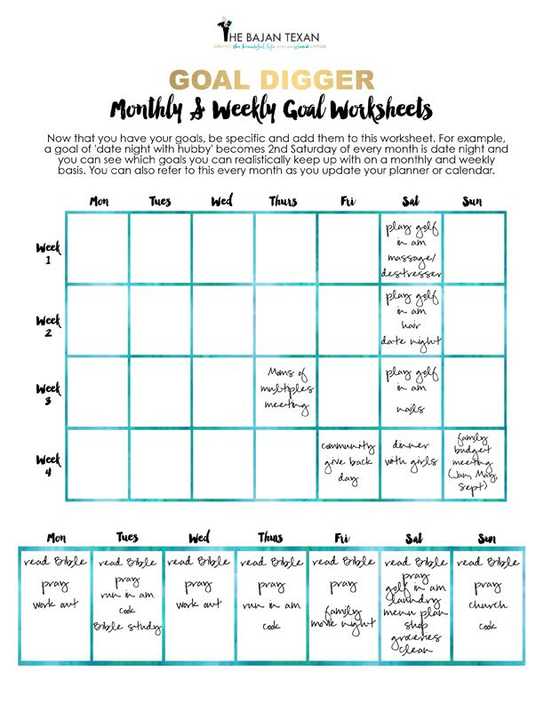 free goal planning worksheets for the new year the bajan