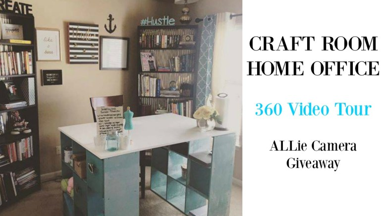 craft room home office 360 video tour