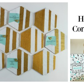 DIY Hexagon Cork Board for your Vision Board or Wall Organization