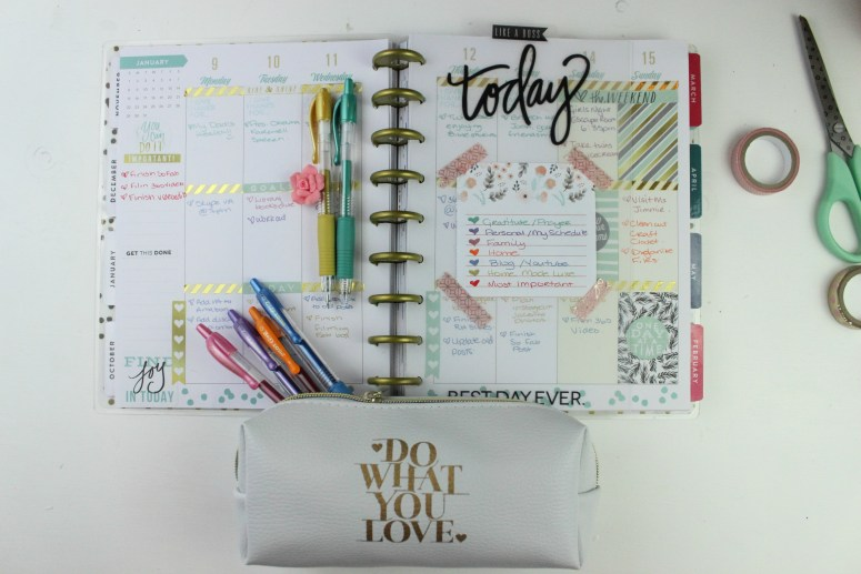 how to color code planner with favorite colored pen