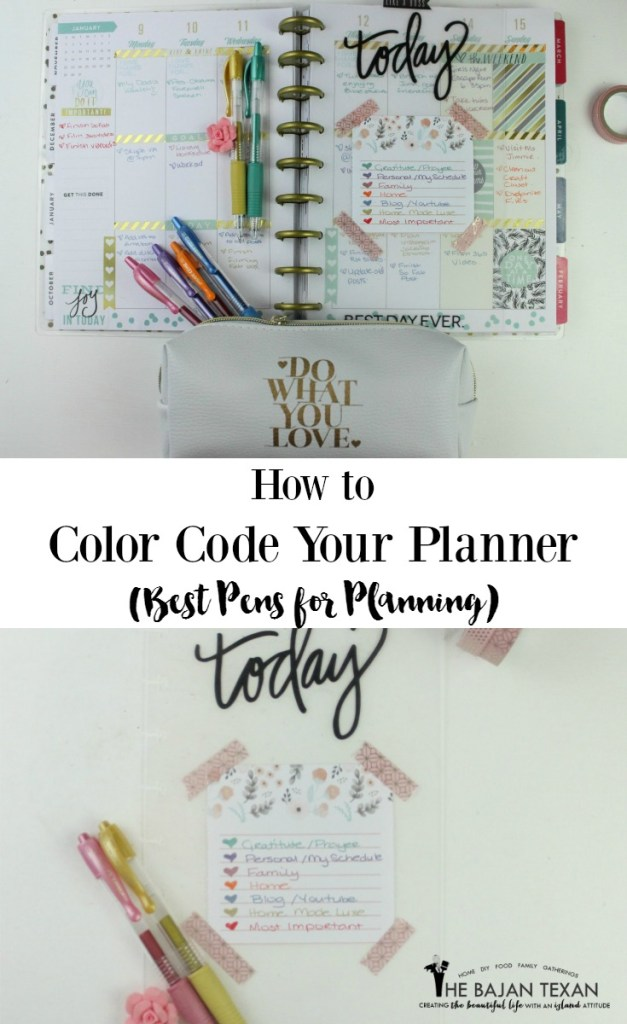 how to color code your planner best pens for planners