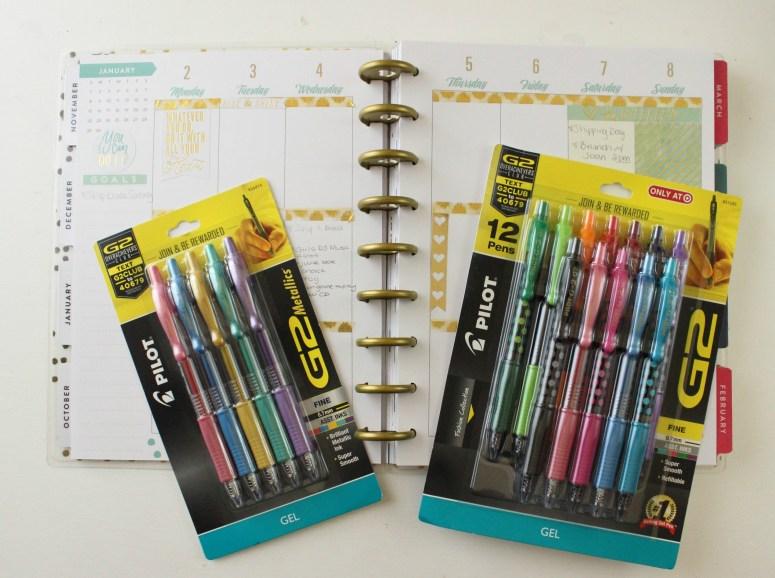 favorite pens for planner