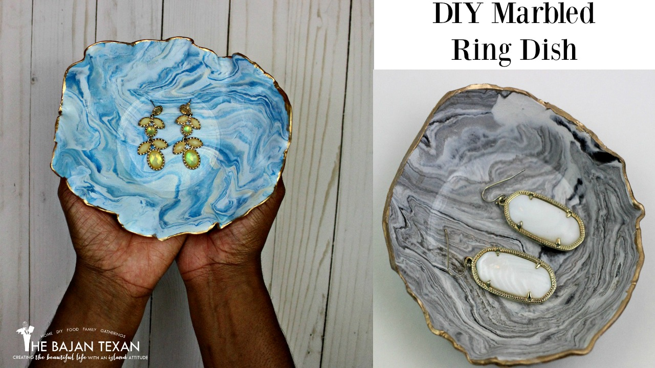 DIY Marbled Ring Dish Tutorial The Bajan Texan