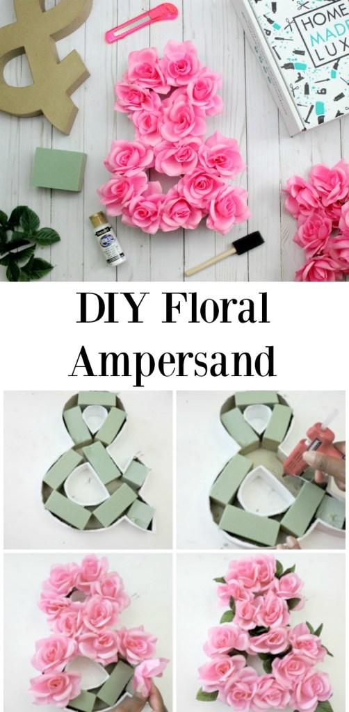 diy floral ampersand floral letter