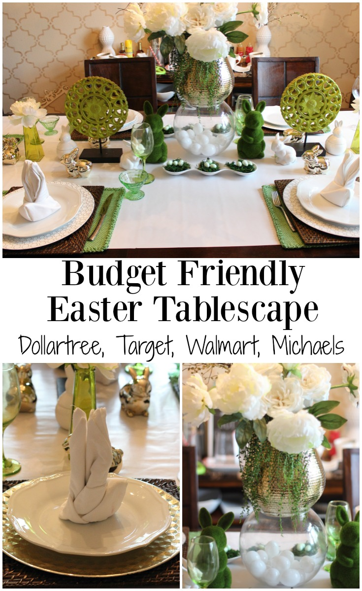 Budget Friendly Easter Tablescape Spring Tablescape Blog