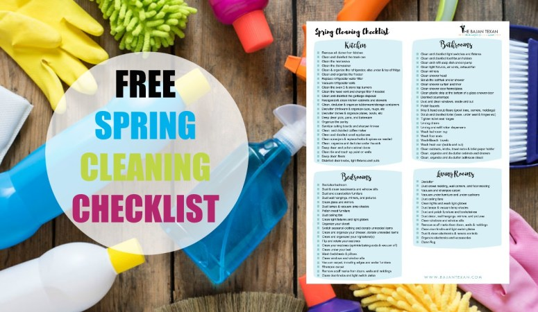 Free Spring Cleaning Checklist (Spring Cleaning Challenge)