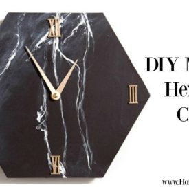 DIY MARBLE CLOCK TUTORIAL