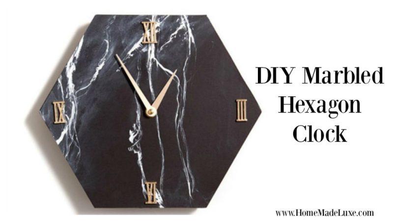 DIY MARBLE CLOCK TUTORIAL