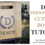 DIY Monogram Cutting Board
