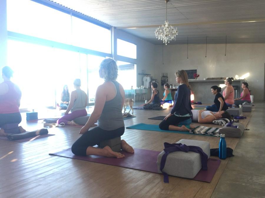 meditation in a yoga studio