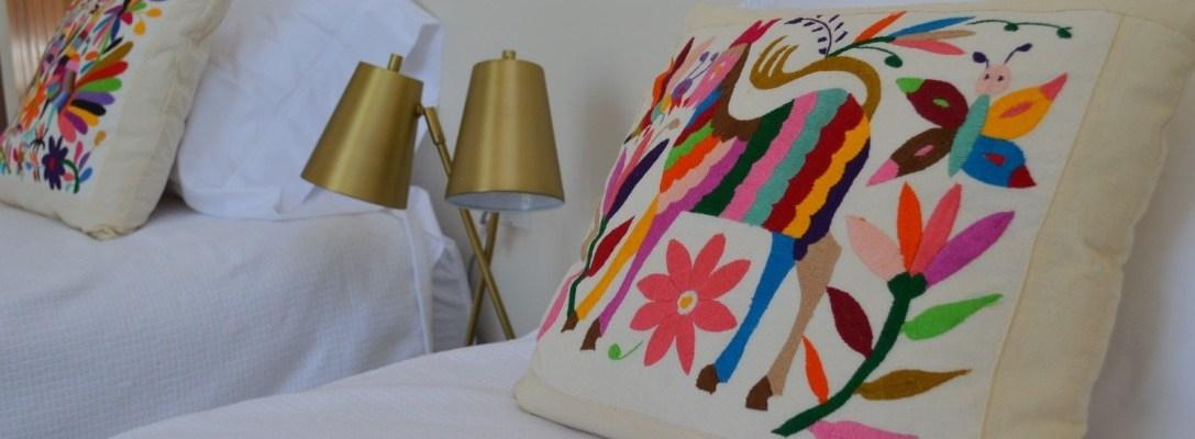 otomi pillows from oaxaca