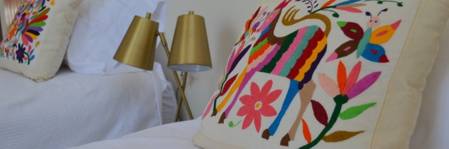 otomi pillows from oaxaca