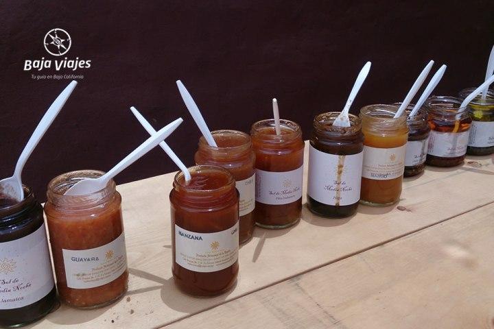 Gran variedad de mermeladas en La Vinícola Sol de Medianoche