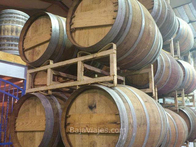 Barricas de vino en Monte Xanic, Valle de Guadalupe, Baja California.