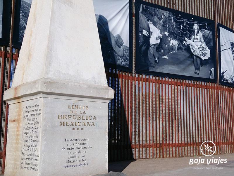 Monumento al Límite de la República Mexicana, en Tijuana