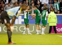 2007-06-19, Fotboll, Allsvenskan, Råsunda, Hammarby - Djurgården (2-0); Hammarby gör 2-0 genom Sebastian Eguren. ©Andreas L Eriksson