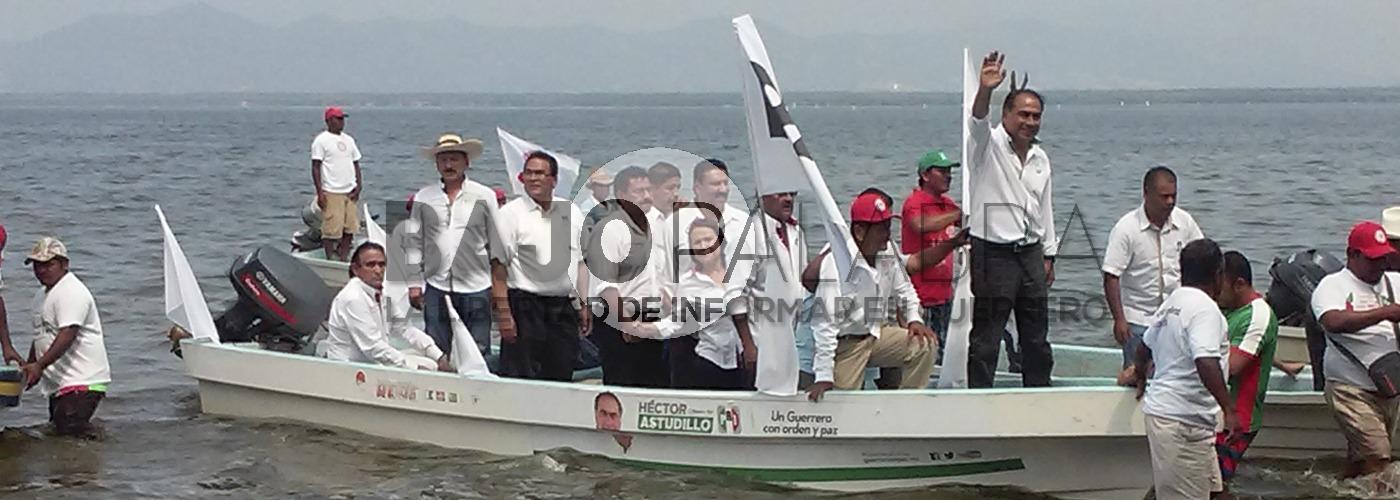 Visitan Astudillo y Camacho Quiroz a pescadores de Tres Palos