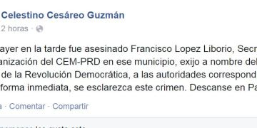 Asesinan al perredista Francisco López Liborio en Iguala 3