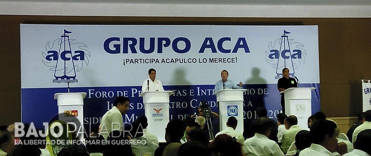 Sin el PRD y el PRI, debaten candidatos a la alcaldía de Acapulco