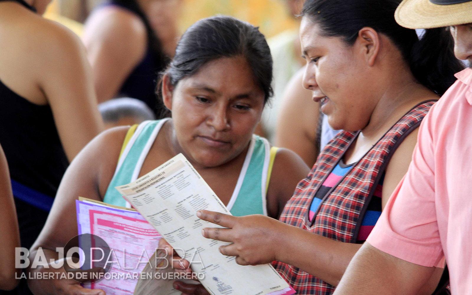 Fuerzas federales inhibieron voto femenino en Guerrero