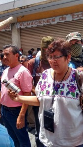 gas lacrimogeno en Chilpancingo contra ceteg