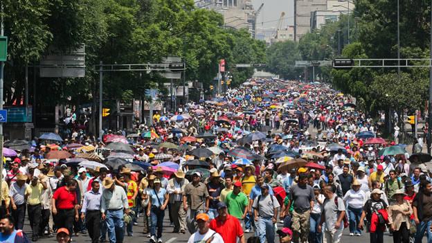 Manifestaciones molestan a 60 por ciento de mexicanos: Encuesta