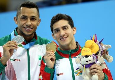 Rommel Pacheco y Jahir Ocampo ganan oro en trampolín de tres metros