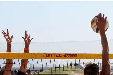 México contra Canadá en cuartos de final de voleibol de playa en JP