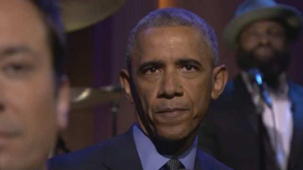 Obama canta en show de Jimmy Fallon [VIDEO]