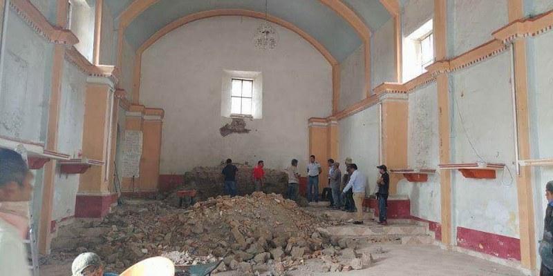 Daña construcción e imágenes antiguas ayuntamiento de Atlixtac, Guerrero
