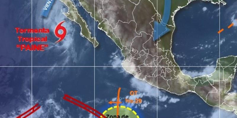 Paine y zona de inestabilidad provocarán lluvias intensas en el país