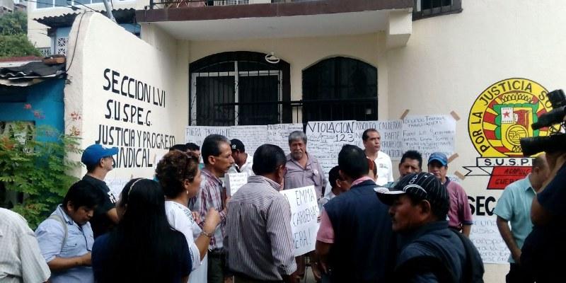 Toman trabajadores del Suspeg delegación sindical en Acapulco