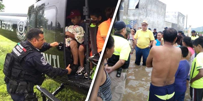 Inundación en Acapulco atrapa a 200 personas