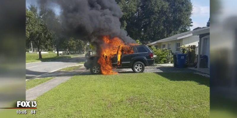 Se incendia camioneta por explosión de un Samsung Galaxy Note 7