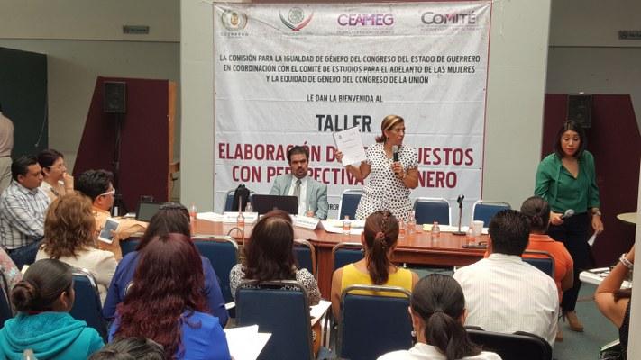 Plantan funcionarios de Guerrero a Comisión de Género del Congreso
